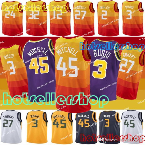 detailed look 53933 f9231 2018 Mitchell 45 Donovan Mens Youth Utah Jazz Jerseys Jerseys 3 Ricky Rubio  Jersey 27 Rudy Gobert Jersey 32 Karl Malone Jersey From Hotsellershop, ...