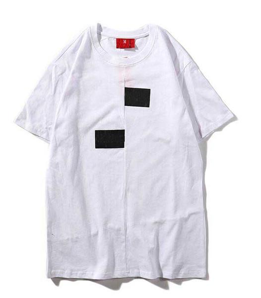 Erkek yaz t gömlek yanlış baskı suprême tasarımcı tshirt siyah beyaz yüksek kalite erkekler kadınlar çift modelleri lüks gömlek rahat tops