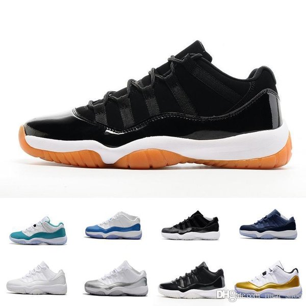 Mens 11 Low Barons 11S Black Basketball Shoes Out Door Sports Sneakers for Men Size US8-13 Real Carbon