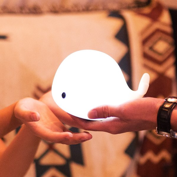 Colorful Led Animal Small Night-light Cartoon Small Whale Charge Lamp Lovely Noctilucent Originality Dolphin Clap Lamp Nurse