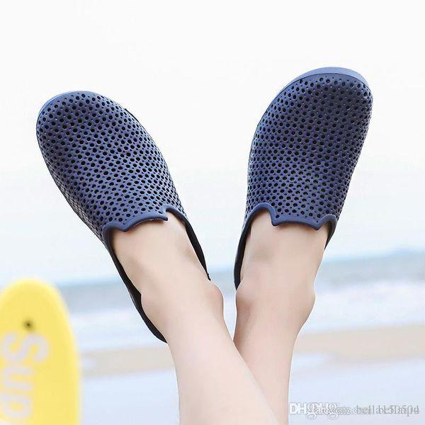 Мужские Летние Пляжные Сандалии На Открытом Воздухе Случайные Приморские Тапочки Выдалбливают Отверстие Мягкие Ежедневно Ленивые Обувь на открытом воздухе пляжные шлепанцы размер 39-46