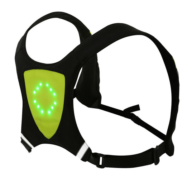 best selling Cycling Wireless LED Light Warning Vest for Riding Running Bicycle Equipment with 3m Remote Control distance Yellow