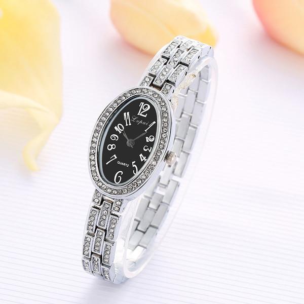 New Fashion Orologi con strass Orologi da donna Bracciale in acciaio inossidabile Orologio da donna al quarzo Orologio reloj mujer