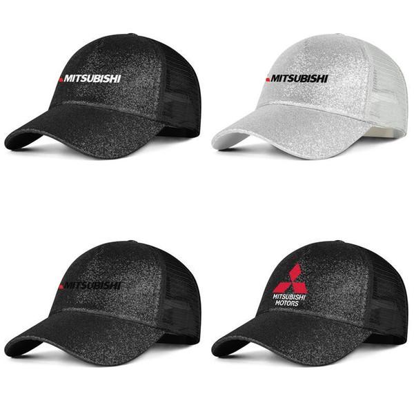 Mitsubishi Motorcycle Logo black Womens Mens Hat Cap Cricket Airy Mesh Hats