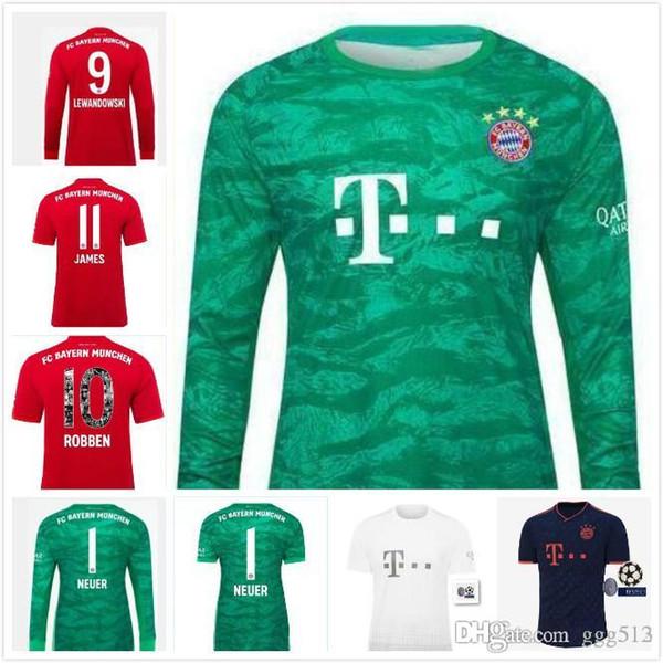 Top Thaïlande Bayern Munich JAMES RODRIGUEZ Maillot de football 2019 2020 LEWANDOWSKI jersey MULLER KIMMICH 18 19 20 chemise HUMMELS football