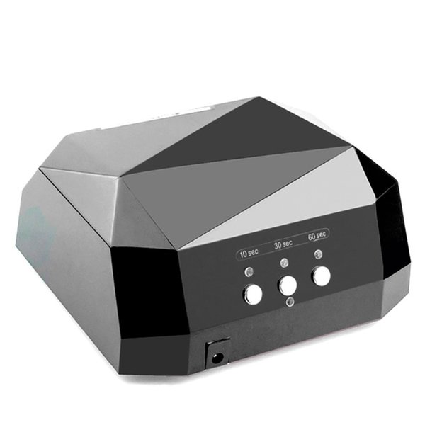 36w Led Uv Lamp Nail Dryer Lamp For Nail Uv Gel Polish Diamond Shape Nail Ccfl Uv Lamp 10/30/60s Timer Manicure Machine Tools T190625