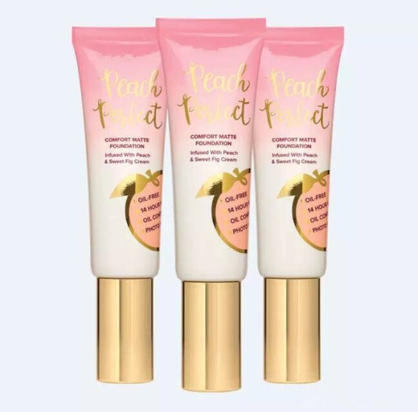 Superior Quality makeup Foundation Peach perfect comfort matte foundation 3 colors 48ml Face cream Foundation High quality DHL shipping