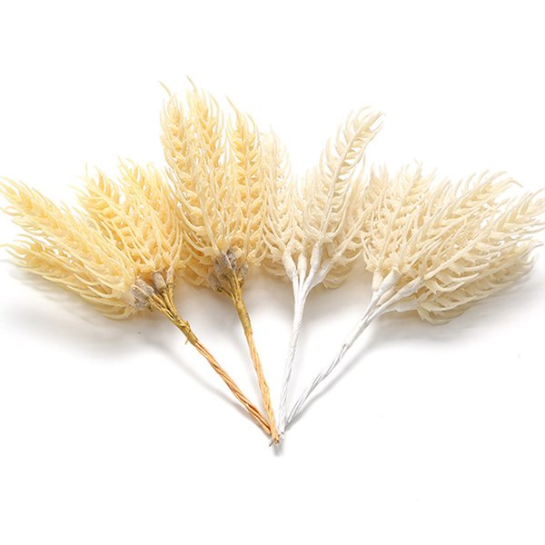 3 Bundles/lot Plastic Artificial Wheat Flower DIY Craft Wreath For Wedding Decoration DIY Decorative Fake Plants