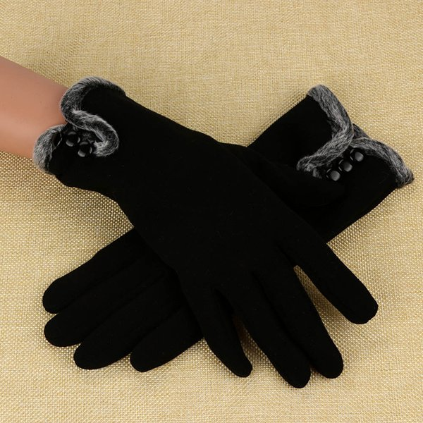 Women Cashmere Keep Warm Driving Full Finger Gloves Touch Screen Glove cycling gloves winter thermal women winter knitted