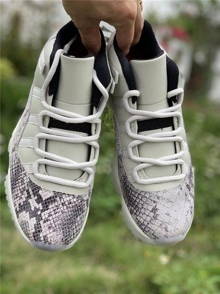 2019 Release 11 Low SE Snakeskin Light Bone Scarpe da basket 11s Vera fibra di carbonio Mens scarpe sportive 88 jordan Athletic Sneakers con scatola