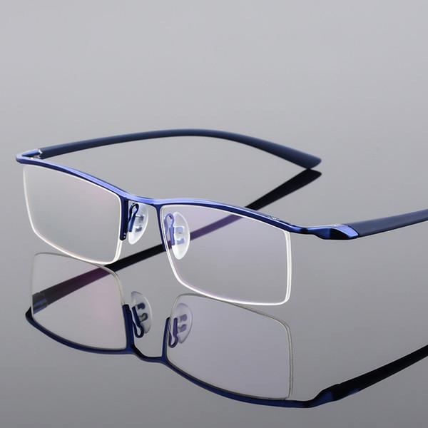 Browline половина оправы металлические очки рамка для мужчин очки Мода прохладный оптические очки человек очки рецепт рамка P8190