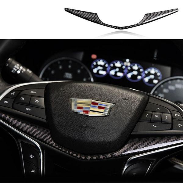 Cadillac XT5 Carbon Fiber Car Interior Refit Steering Wheel Decorative Cover Trim Center Control Decor Frame Gear shift Panel 3D Sticker