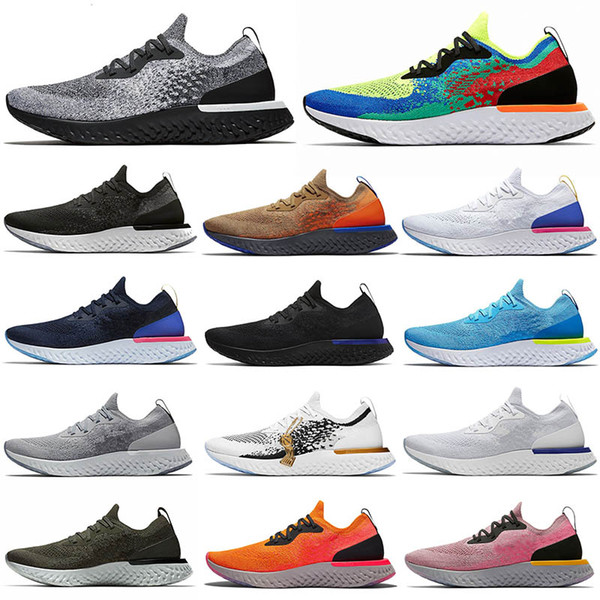 breathable fly react fashion shoes womens champion mens trainers knitting be ture racer blue triple black white sport sneakers 36-45