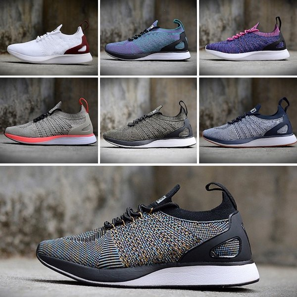 2018 Newest Good Quality Mariah Racer 2 Two V2 Women Mens Athletic Running Shoes Black White Red AIRs Zoom Sneaker Size 36-45