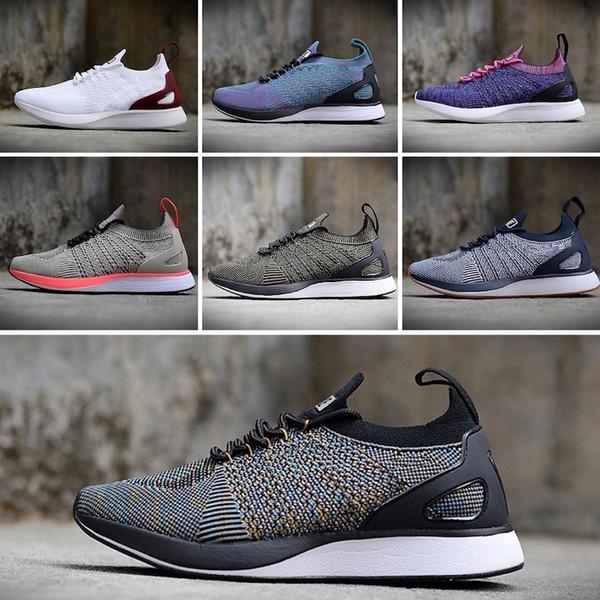Nike Flyknit Racer Be True 2018 Новые Хорошее Качество Mariah Racer 2 Two V2 Женщины Мужские Спортивные Кроссовки Черный Белый Красный ВОЗДУХА Zoom Кроссовки Размер 36-45
