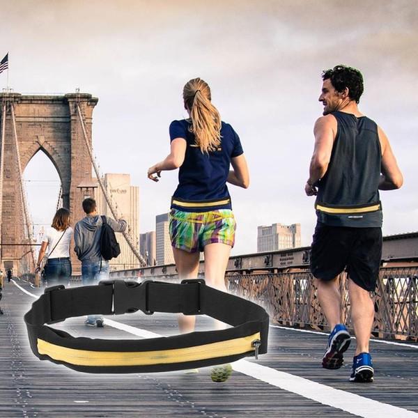 Outdoor Sport Running Waist Bag Waterproof Elastic Phone Holder Jogging Cycling Fitness Belt Belly Bag Anti-theft Waist Pack #86477