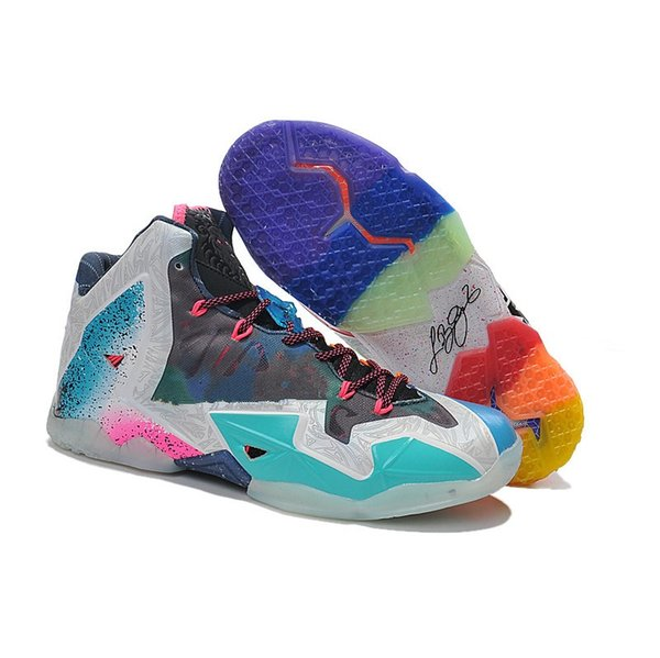 Cheap new lebron 11 XI mens basketball shoes for sale 11s MVP Christmas BHM Oreo youth kids Generation sneakers boots with original box
