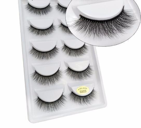 5 Pairs False Eyelashes Fake Lashes Natural Long 3d Eyelashes Beauty Volume Eyelash Extension Eye Lashes G805