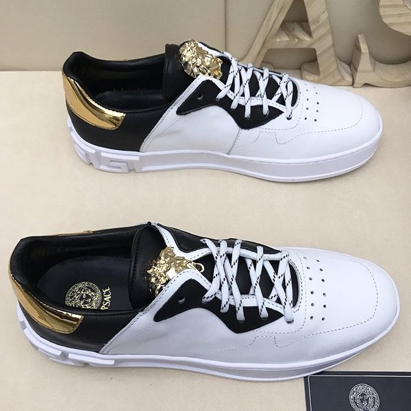 New highquality fashion fashion mens trend casual shoes, brand design sports mens casual outdoor skates, sports shoes original packaging qe