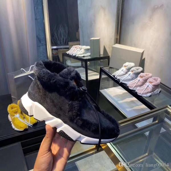 Высокая стрейч вязать Париж Скорость тренер вскользь носок обуви Плоское дно дышать Платформа Luxury Designer Мужские Женская мода сапоги Sneak fz1023