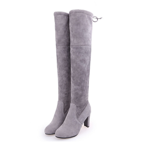Women Boots Stars with Women High Boots Over the Knee Slim High Heel Lightweight Comfortable Thick XL 34-43