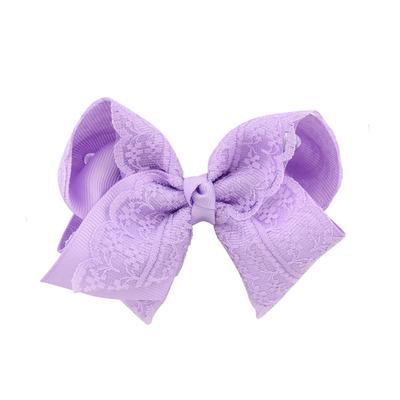 30Pcs/Lot Kids Girls Hair Bows Hair Clip Brand Fashion Boutique Clip Grosgrain Ribbon Lace Candy Color Girls Hairpin Hair Accessories