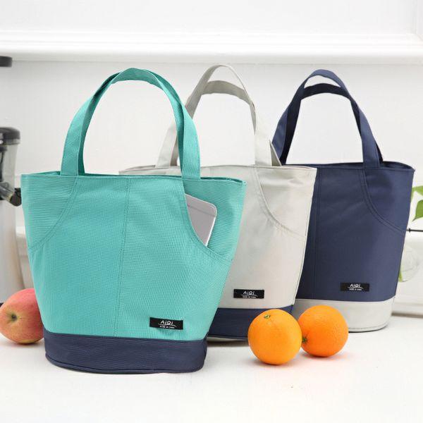 Borsa per picnic portatile di grande isolamento di colore esterno di corrispondenza esterna di modo di grande capacità che ispira il sacchetto di pranzo lavoro tasca impermeabile
