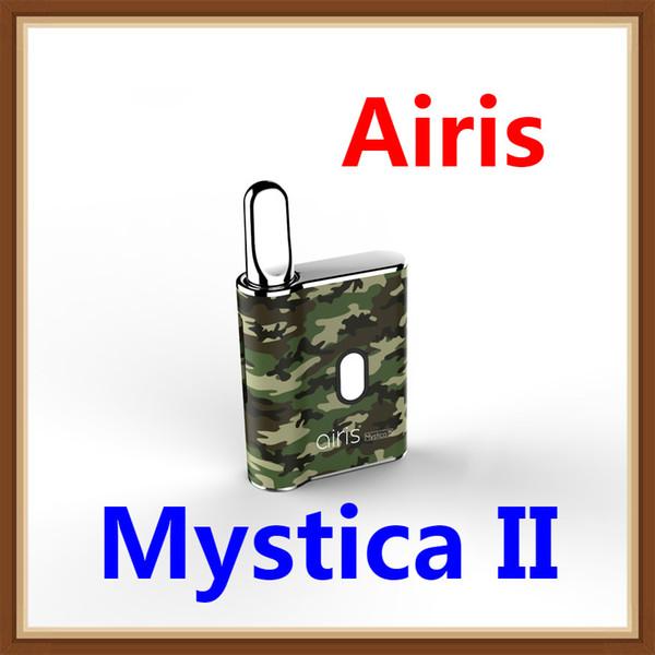 Original Airis Mystica II 2 airistech Preheat VV Box Mod 450mAh Battery Vape Pen Thick Oil Cartridge 510 magnetic Vaporizer e cigarette Kit