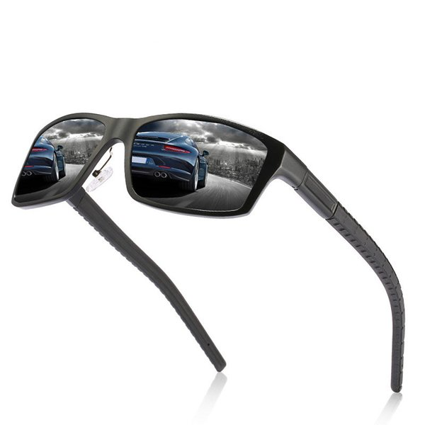 Ellen Buty Brand Designer Design New Sunglasses Men Polarized Square Aluminium Magnesium Male Sun Glasses Driver Mirrors Glasses