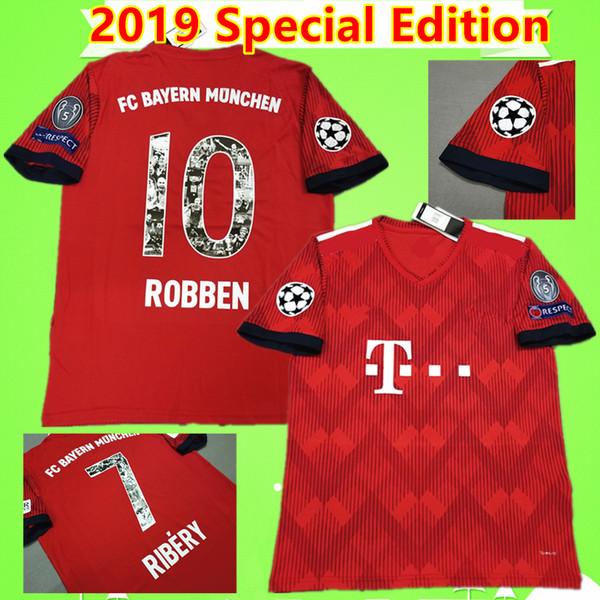 7 RIBERY 10 ROBBEN 2019 special Commemorative Edition bayern münchen fußball trikot 2020 fußballtrikot Camiseta münchen maillot 19 20 retro