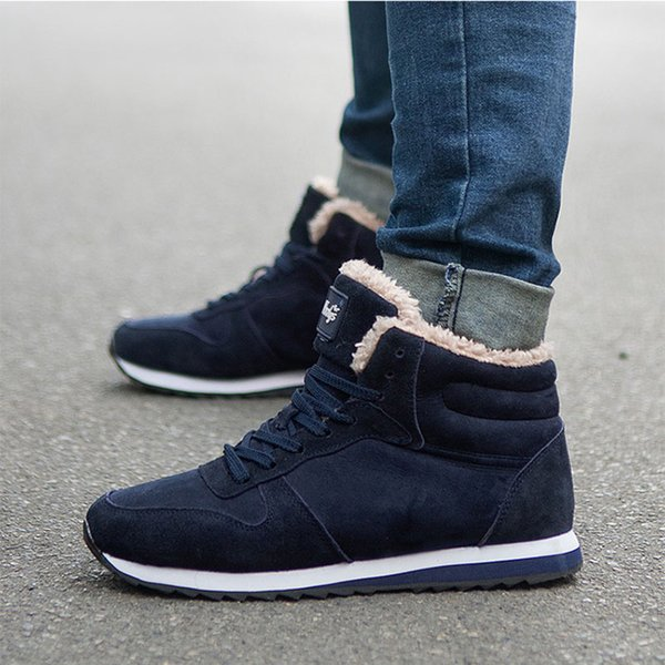 2019 Men Boots Warm Winter Sneakers Winter Shoes Ankle Boots For Men Shoes Snow Botas Mujer Casual Designer Shoes Rain Boots For Women From