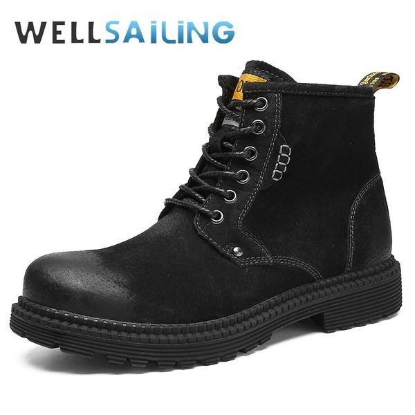 Compre Botas De Martin Para Hombre Zapatos De Cuero Ocasionales Para Hombre Alta Moda Superior Bota De Motocicleta Bota De Invierno Zapato De Piel De
