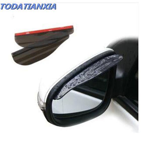 2018 hot 2pcs/lot car mirror rain eyebrow stickers for toyota corolla skoda rapid ford renault logan suzuki grand vitara ix25