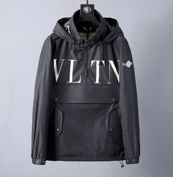 2019 весной и осенью новый высокое качество с капюшоном водонепроницаемая куртка китайский размер ~ топы дизайнер высокого качества куртки бомбардировщики для мужчин