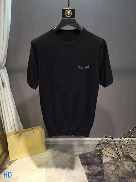 YENİ Tasarımcı FF Tişörtlü Erkek Giyim Luxe Marka Tişörtler 19 20 Yaz Moda Tide Yüksek Kaliteli Casual Slim Tees Erkekler çiftler korunabilir yazdır