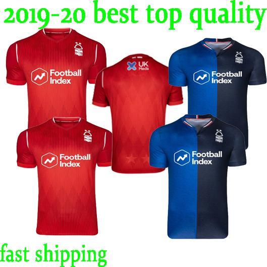 top 19/20 Nottingham Forest GRABBAN ADOMAH football club LOLLEY WATSON shirts 19 20 NFFC blue red soccer jerseys DAWSON SEMEDO CASH maillots