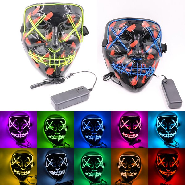 Halloween ma k led light up party ma k the purge election year great funny ma k fe tival co play co tume upplie glow in dark jxw250