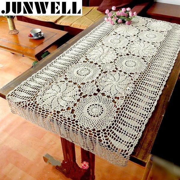 100% coton Handcraft Crochet nappes Shabby Vintage nappe au crochet couverture de piano à la main coton dentelle T8190620