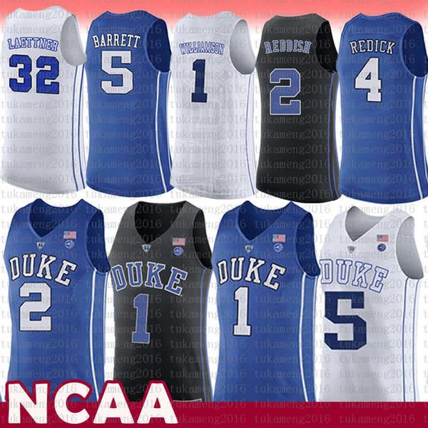 top popular 1 Zion Williamson Duke Blue Devils NCAA College Basketball Jersey 2 Cam Reddish 5 RJ Barrett 32 Christian Kyrie Laettner 4 J.J Redick Irving 2020