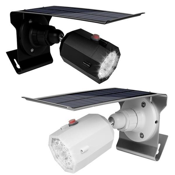 Umlight1688 LED Solar Light Motion Sensor 360 Degree Adjustable Security Solar Lamp Camera Shape Auto Waterproof Garden Wall Lighting