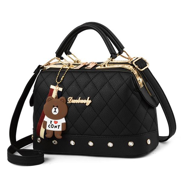 Moda kadınlar için Crossbody çanta Perçin Omuz Çantası bolsas feminina Yumuşak PU Deri Messenger Çanta Çantalar ve Çanta ana kesesi