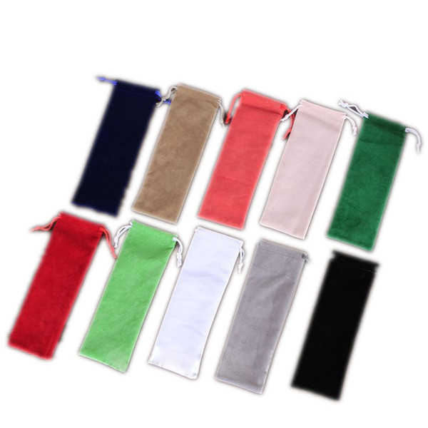 Newest Colorful Velvet Bag Protect Container Rope Open Cloth Case Shell Portable For Glass Bong Wood Smoking Pipe High Quality Hot Cake DHL