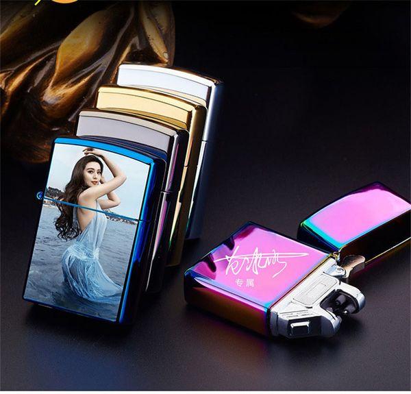 Double ARC Pulse Flameless Plasma Torch Dual Arc Electric USB Lighter Rechargeable Plasma Windproof Flameless Cigarette lighter