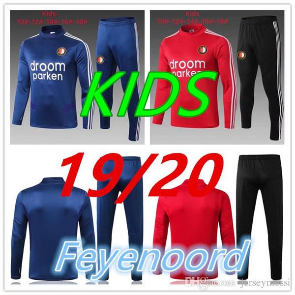 2019/20 Feyenoord sport de football de costume pour les enfants 2019 2020 LARSSON 32 V.PERSIE 10 BERGHUIS 10 VILHENA 9 JORGENSEN ENFANTS le football jo