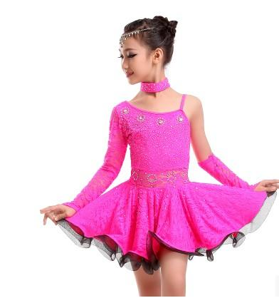 99d5c4f9dac5 children latin dance skirt Promo Codes - Latin dance clothes Hand sewing  lace children hot stone