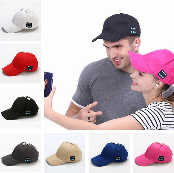 Moda Bluetooth Música Gorra de béisbol Lona creativa Sombrero para el sol Música Auriculares manos libres con micrófono Altavoz Gorra Sport Ball Hat 5180
