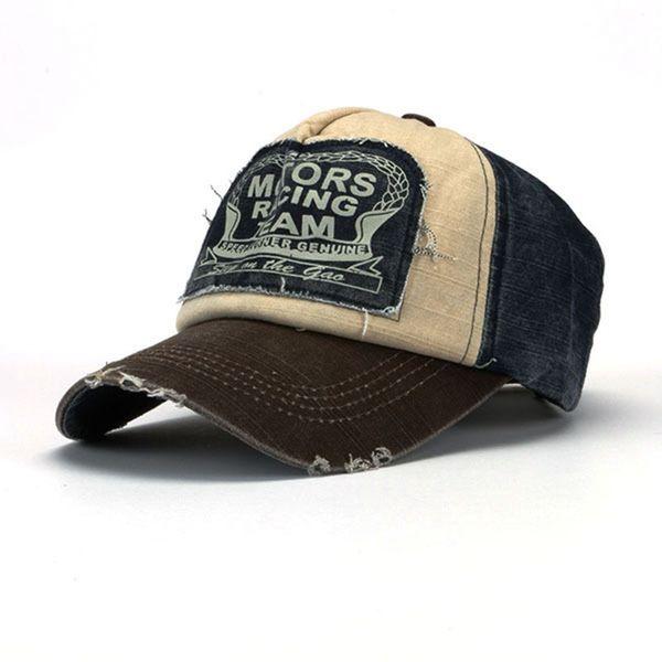 Erkekler için Toptan-Yienws Vintage Jeans Eğrisi Brim Trucker Cap Kemikleri Masculino Beyzbol Şapkası Erkek Ayarlanabilir Baba Şapka Casquette Homme