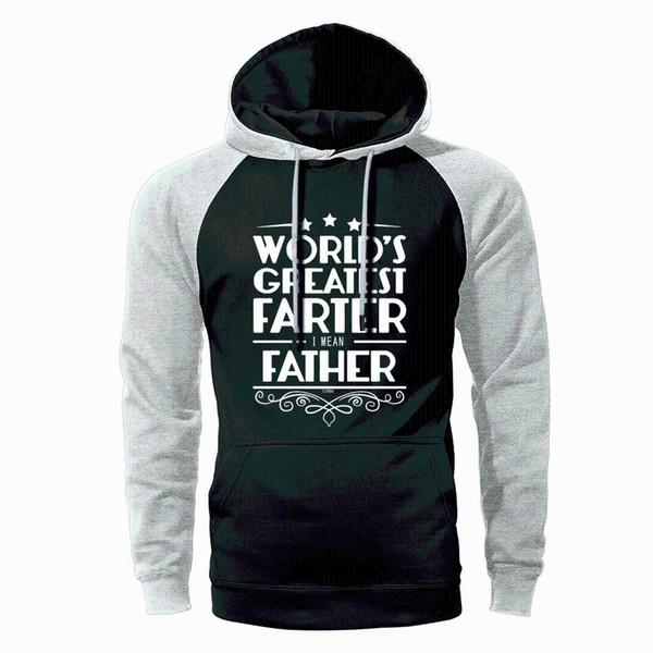 Der größte Vater der Welt Hoodie Männer Raglan Streetwear Sweatshirts 2019 Frühling Herbst Fleece Warm Lose Sportswear Geschenk für Vater