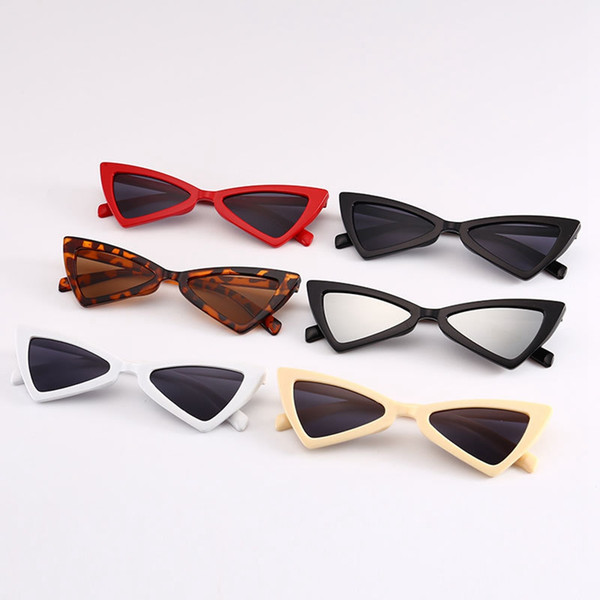 Mode Sexy Cat Eye Sunglasses causales femme Triangle Leopard cadre cerclé Outdoor Lady Beach Voyage Lunettes TTA1294-33