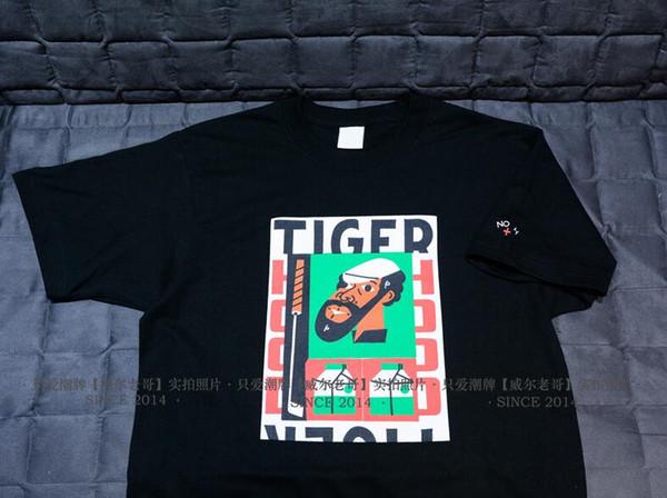 2019 nuevos hombres y mujeres de verano Youmidi NOAH Tiger Hood Tee tiger golf series tema algodón camiseta de manga corta marea belleza